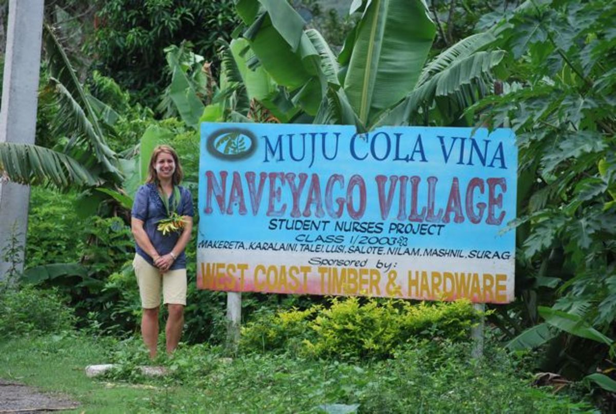 Outside Naveyago Village in Fiji
