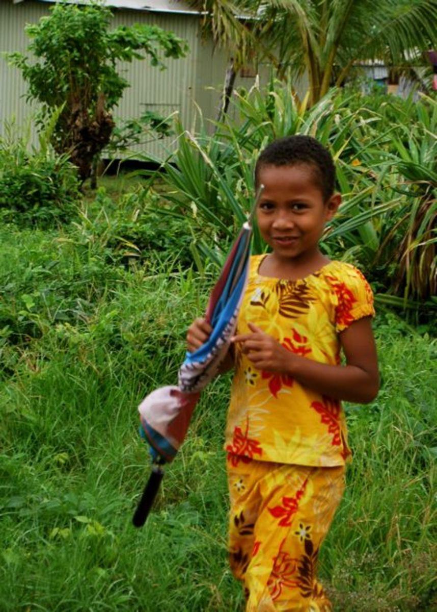 Girl in Fiji