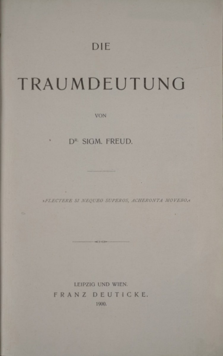 """Title page of the first edition of """"Interpretation of Dreams"""""""