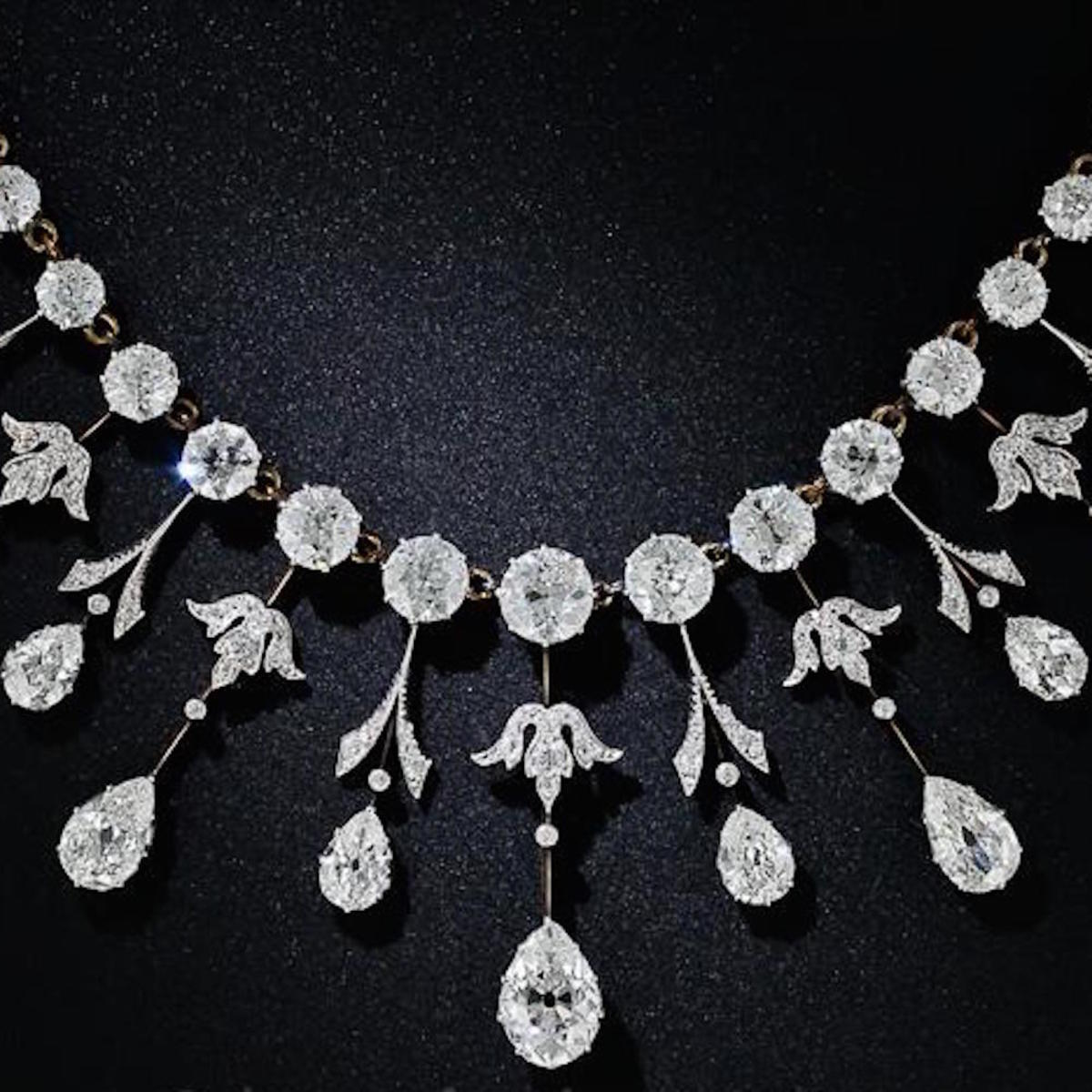 Edwardian Diamond Fringe Necklace
