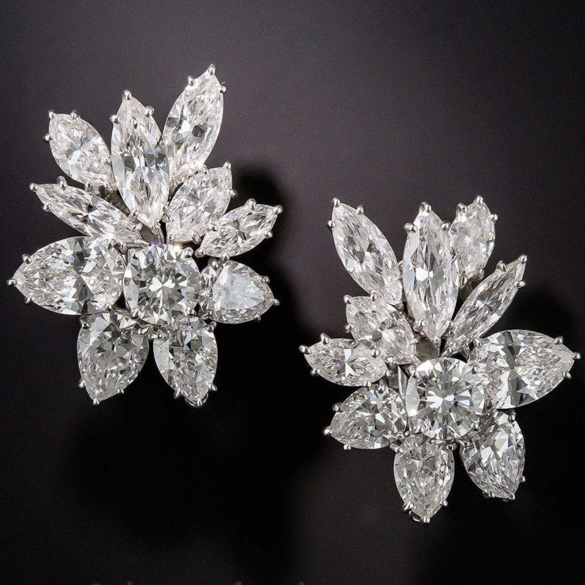 Harry Winston 16 Carat Diamond Earrings