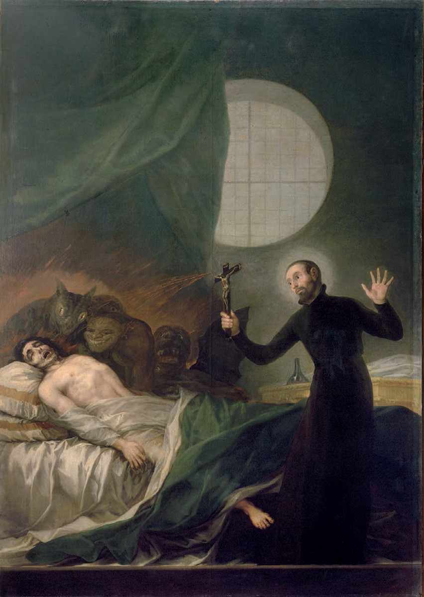 St. Francis Borgia Helping a Dying Impenitent, Francisco Goya, oil on canvas, ca. 1788