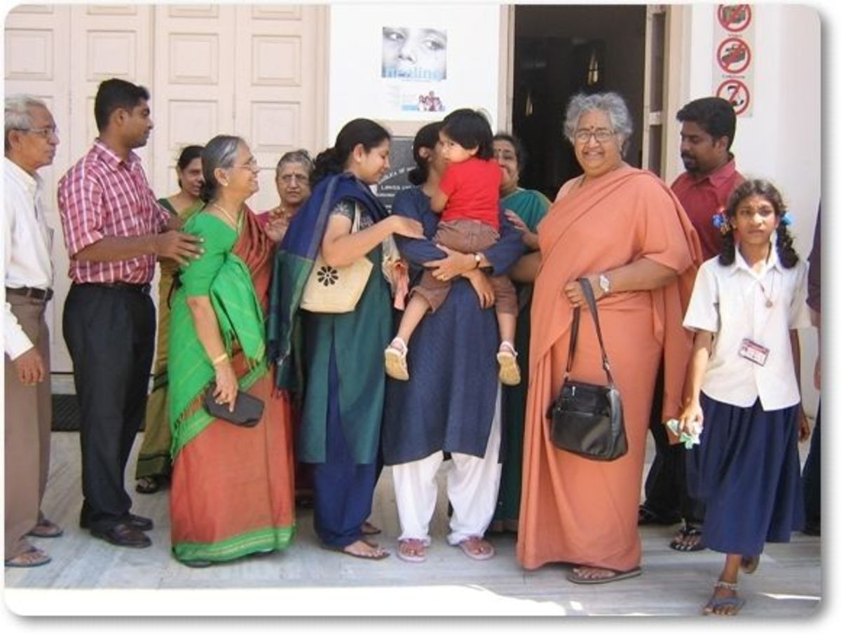 Group of Visitors at Velankanni