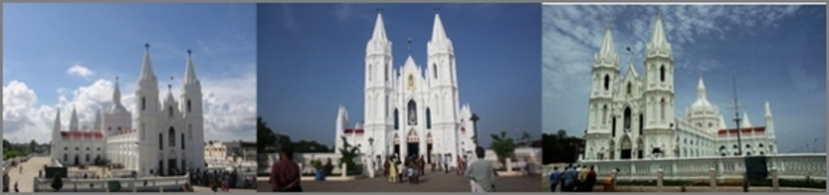 The Velankanni Basilica Complex View
