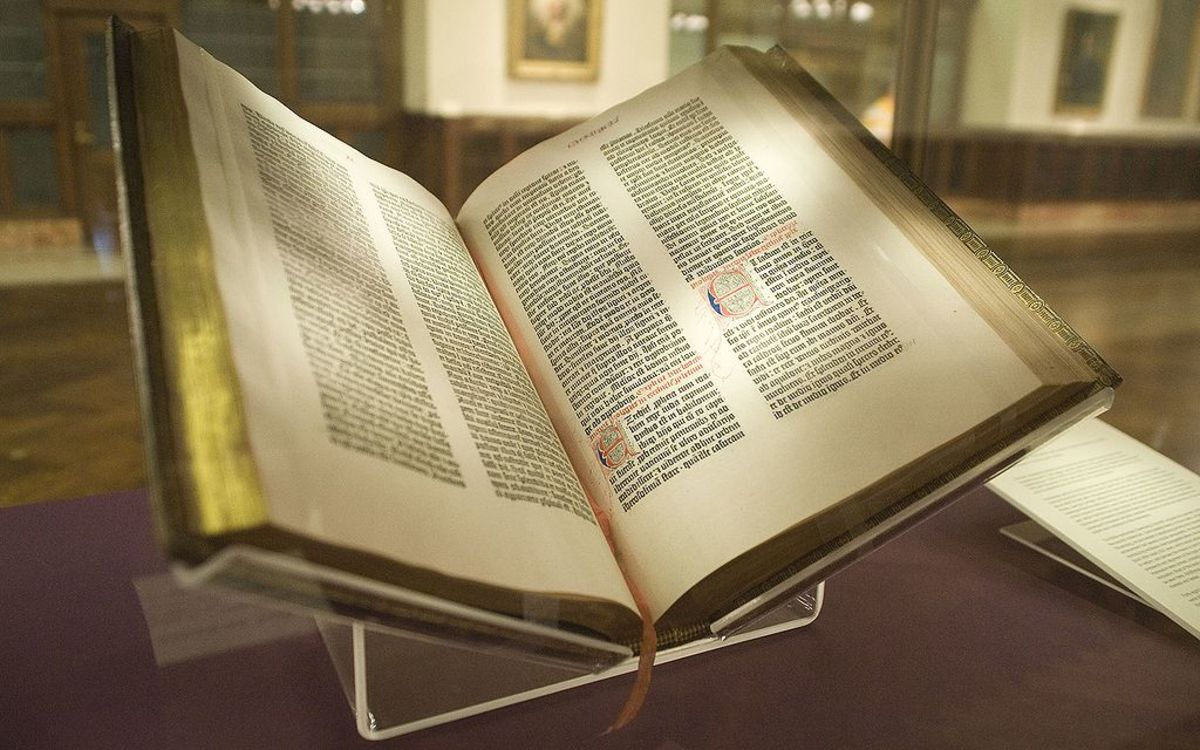 This is a Gutenberg Bible.