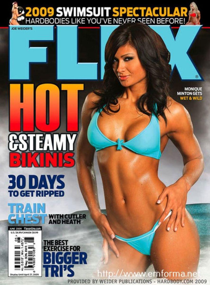 Monique Minton Ricardo on the cover of Flex Magazine