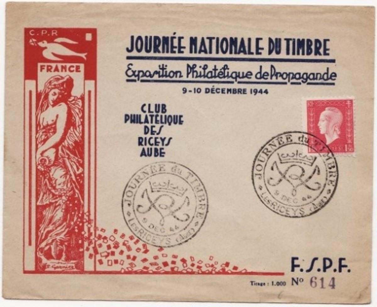 cover for a propaganda philatelic exhibition