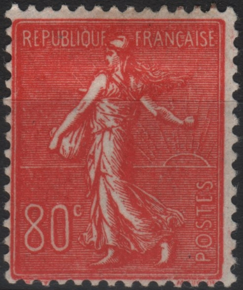 France stamps semeuse sower