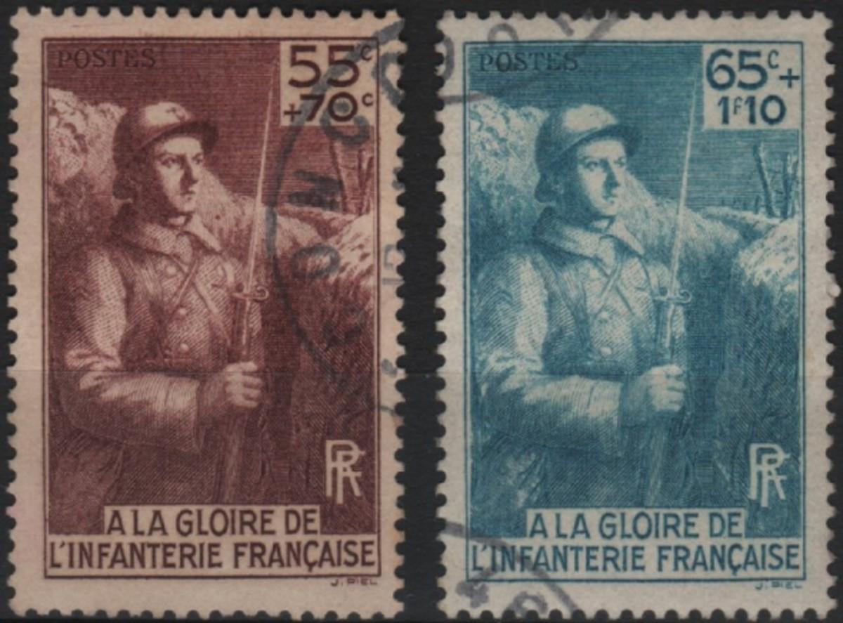 France YT #386-87 used semi-postal
