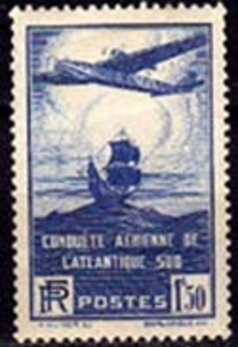 France airmail stamp