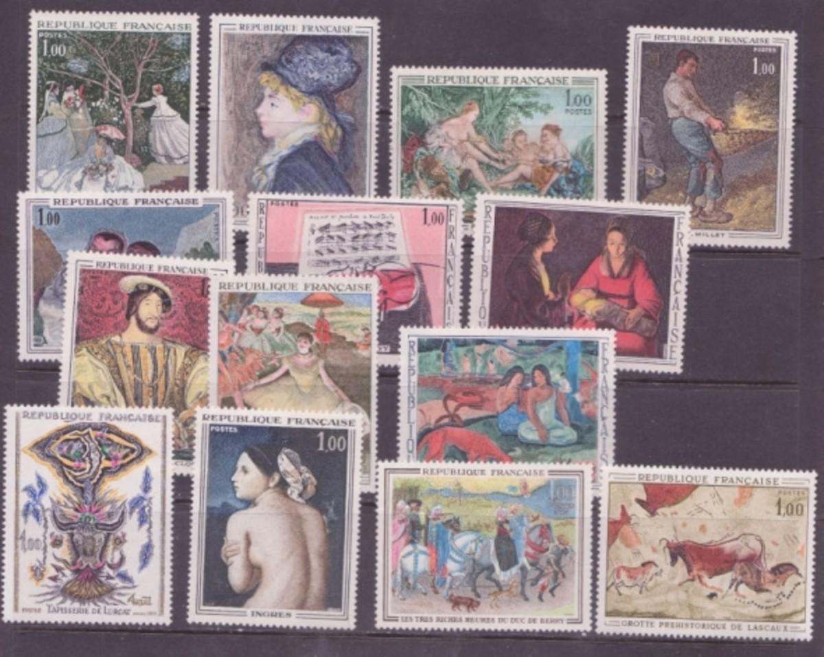 France art stamps