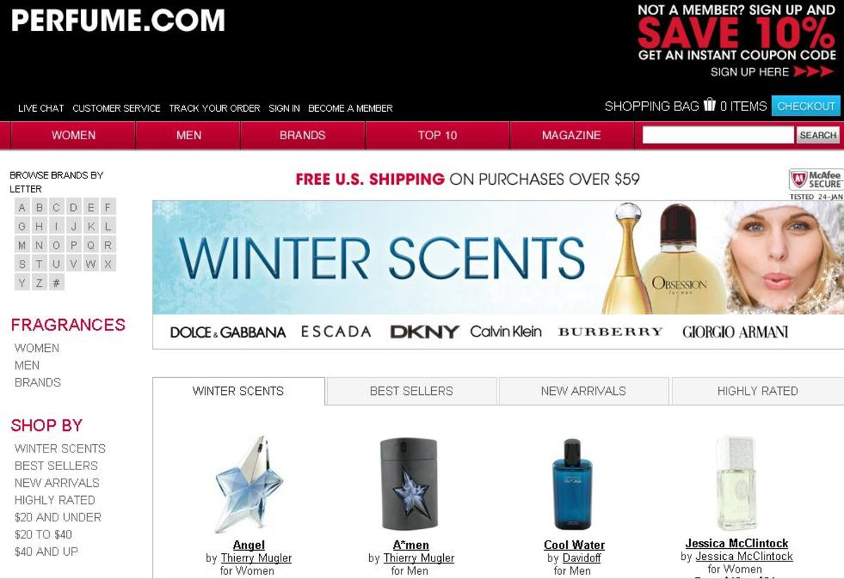 Perfume.com Snapshot