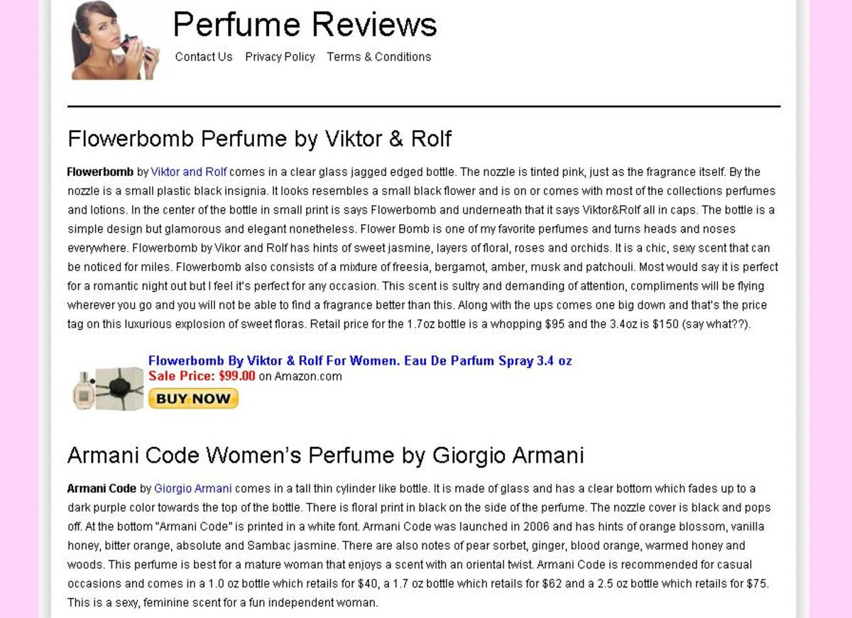 Perfume Reviews.org Snapshot