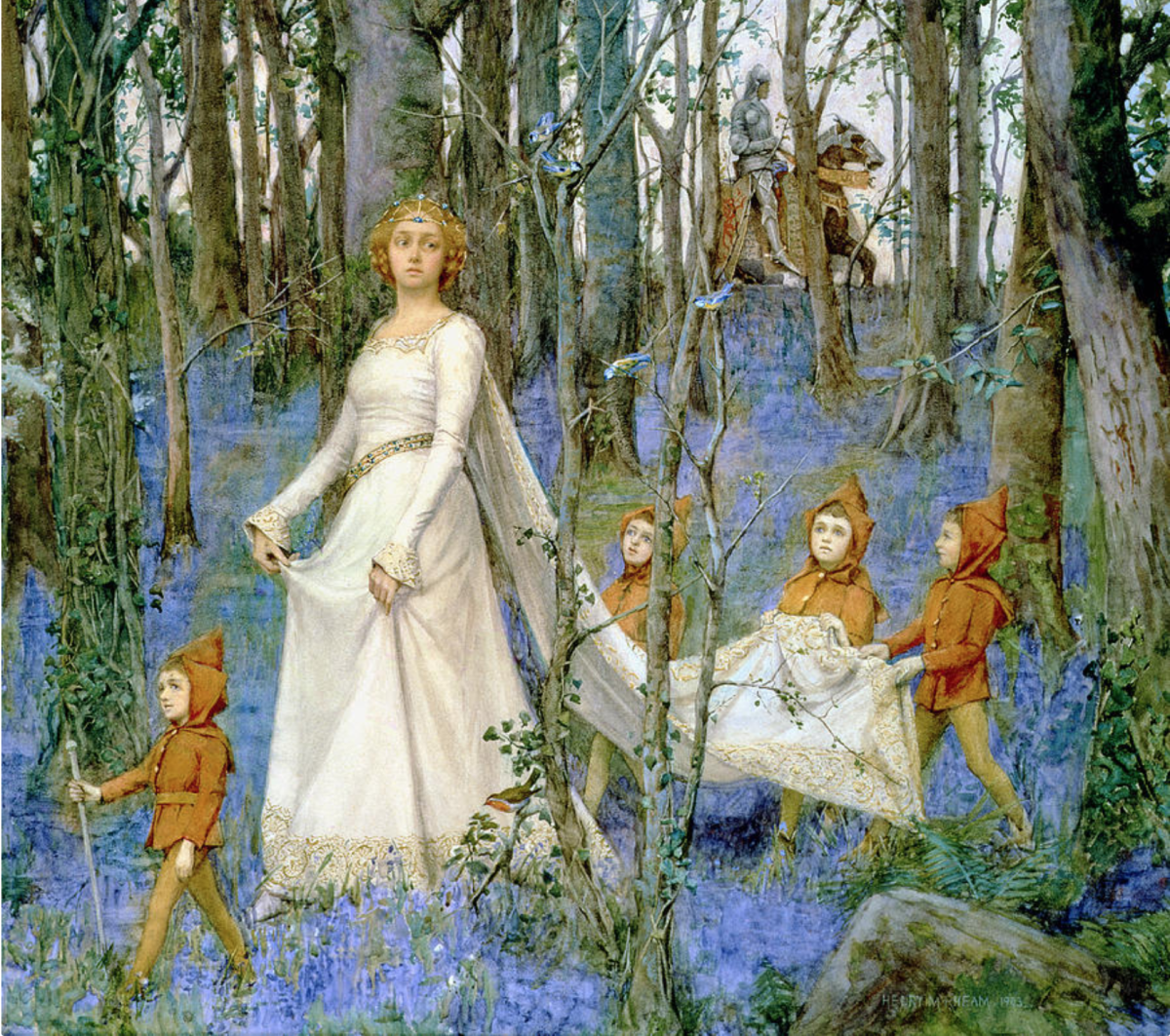 The Fairy Wood by Henry Meynell Rheam,  (1859-1920);