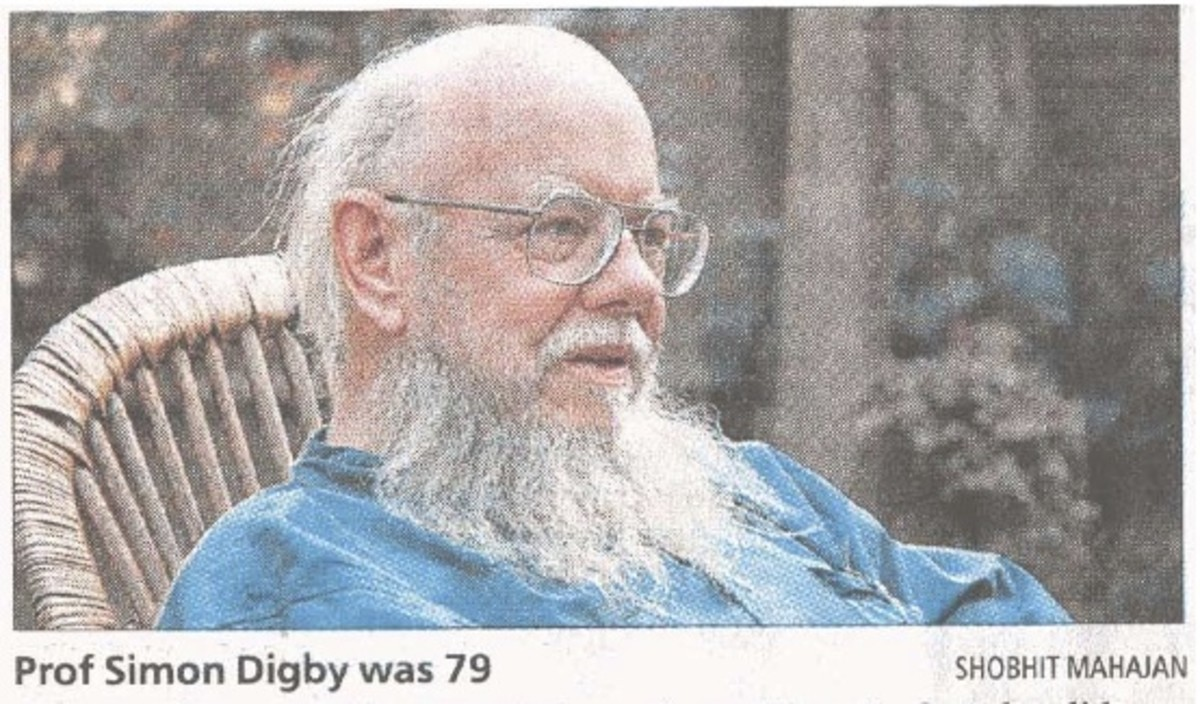Professor Simon Everard Digby MA (17 October 1932 - 10 January 2010) - cancer deaths