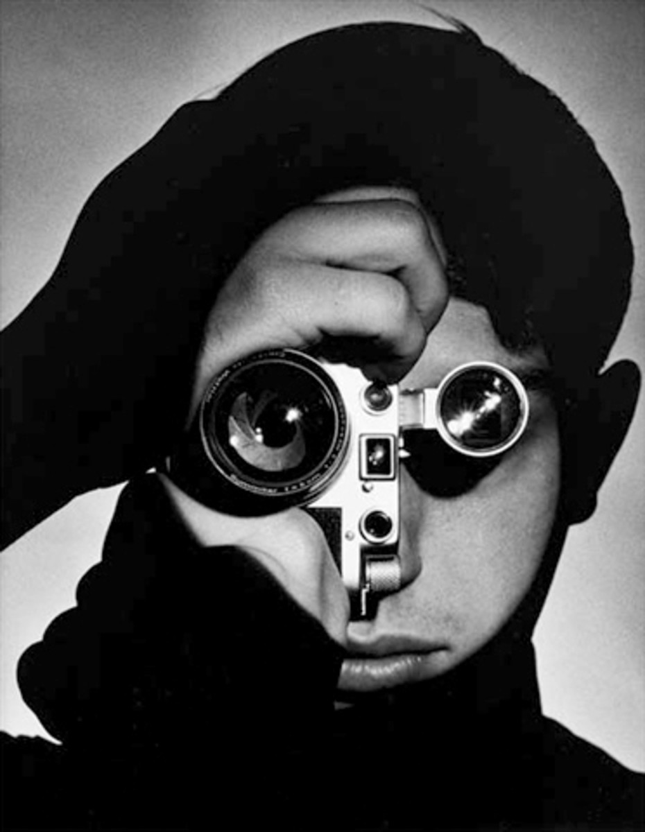 """The Photojournalist"", portrait of Dennis Stock by Andreas Feininger, 1951. source: Wikipedia - Dennis Stock , died of cancer - cancer deaths 2010"