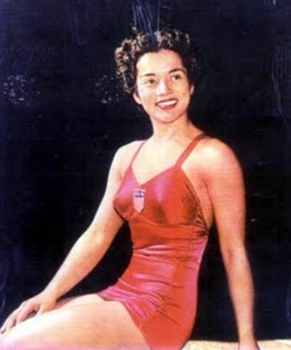 """Victoria """"Vicki"""" Manalo Draves (December 31, 1924  April 11, 2010) - cancer deaths"""