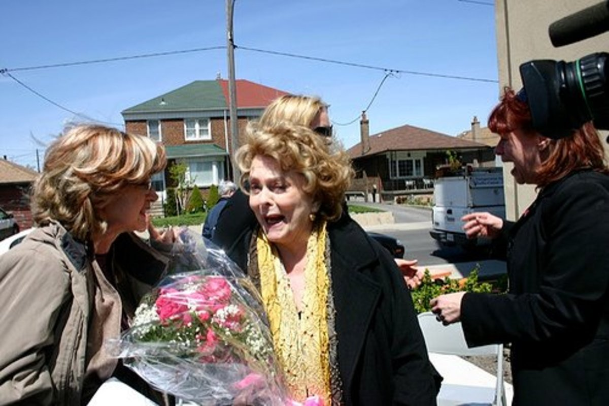 Shirley Douglas at the opening of gardens dedicated to her father, Tommy Douglas.