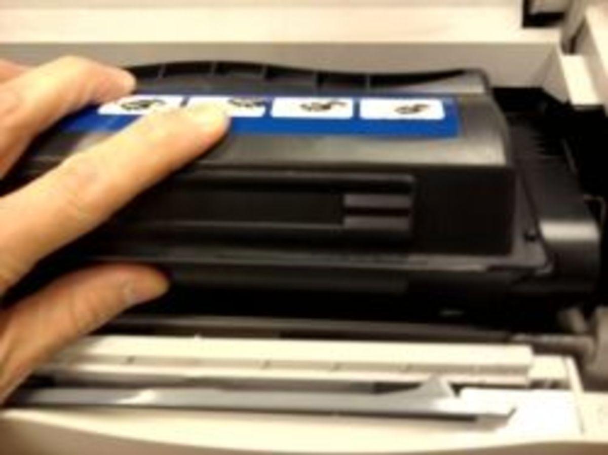 how-to-change-laser-toner-ink-cartridge-on-hp-laserjet-4250n-printer