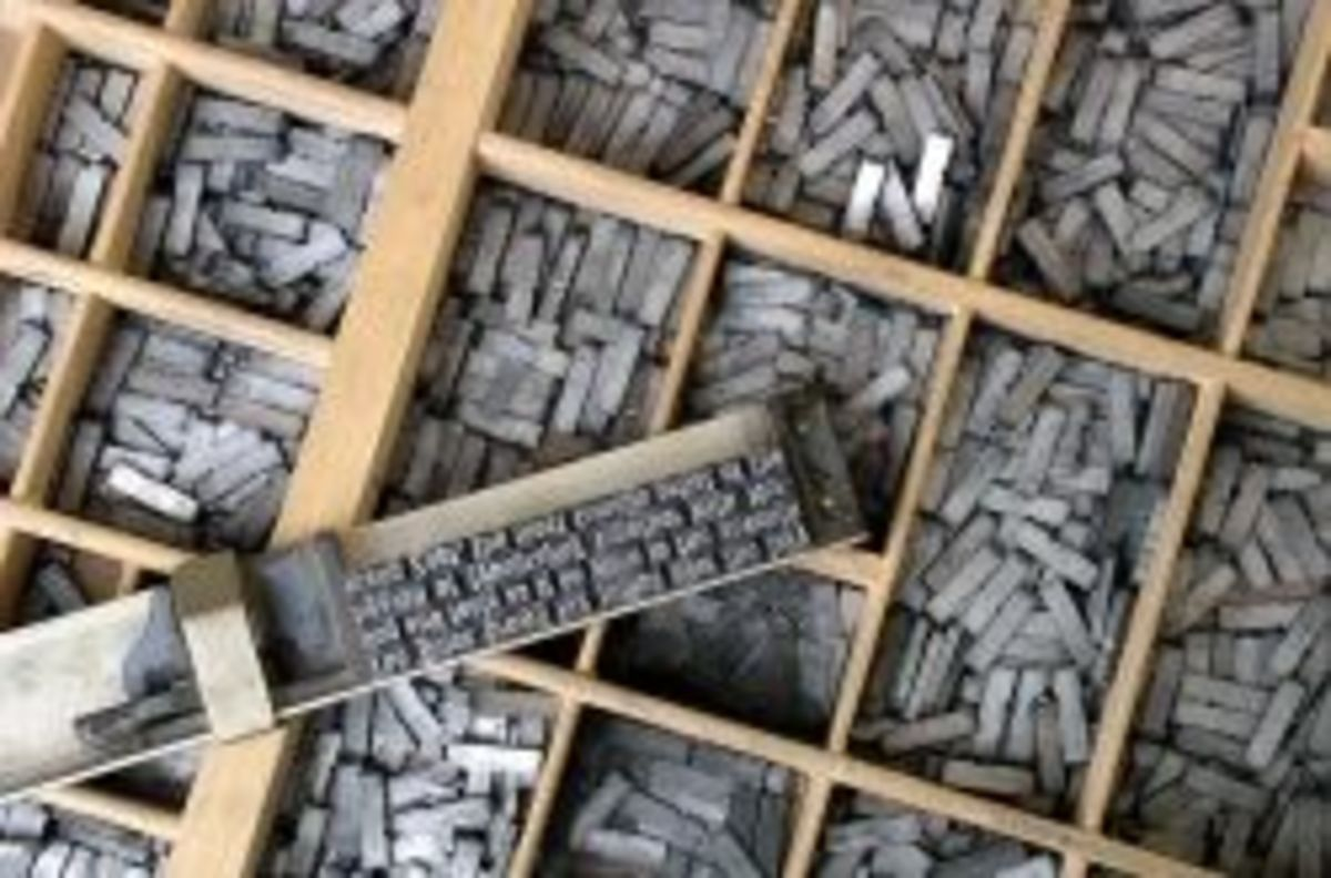 Movable Type. Credit: Herman Zapf, Wikimedia Commons