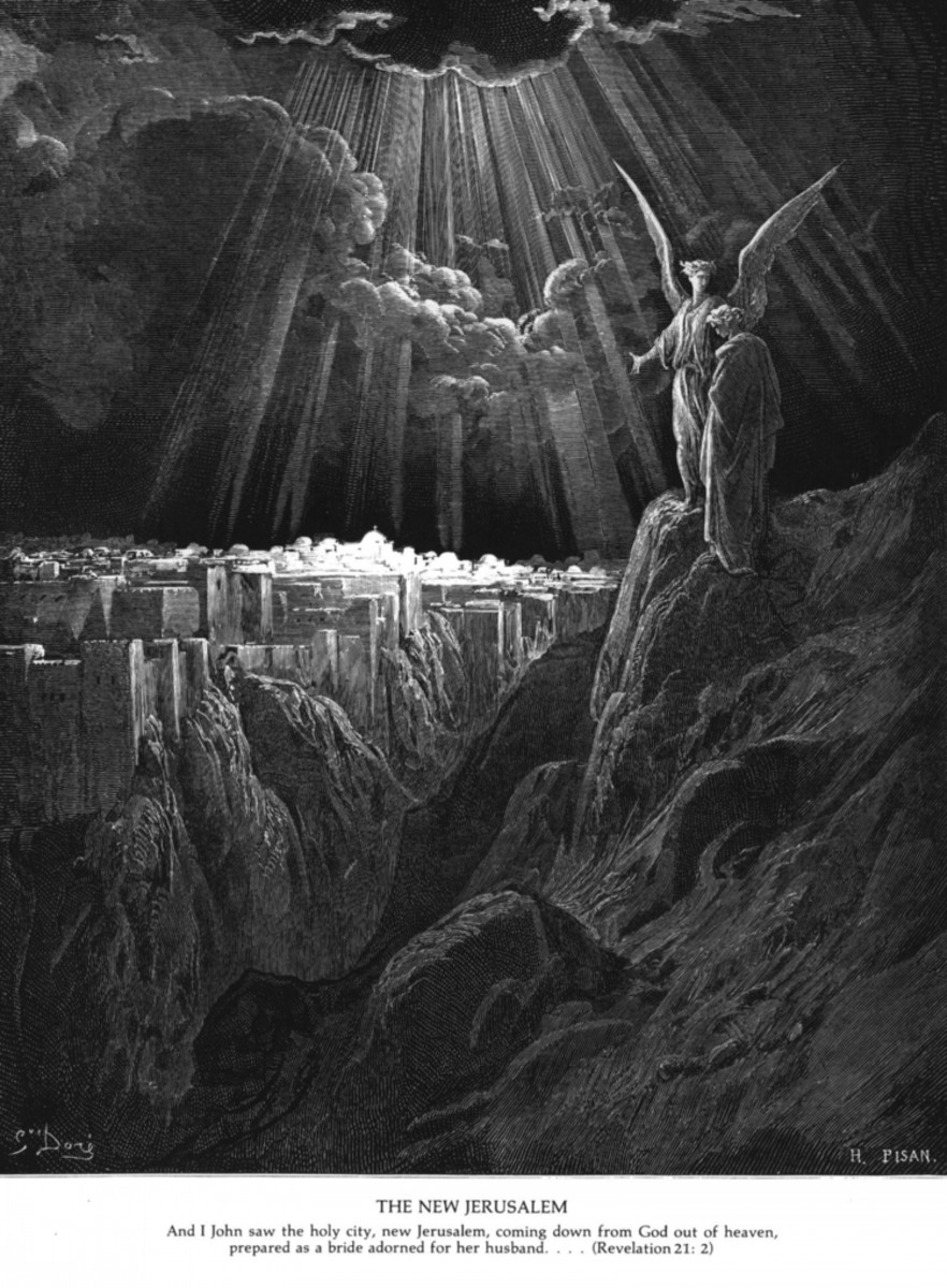 The New Jerusalem, Paul Gustave Dore (1832-1883)