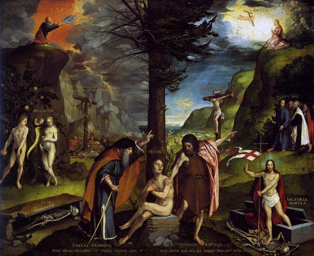 An Allegory of the Old and New Testaments, Hans Holbein the Younger (c1497-1543)