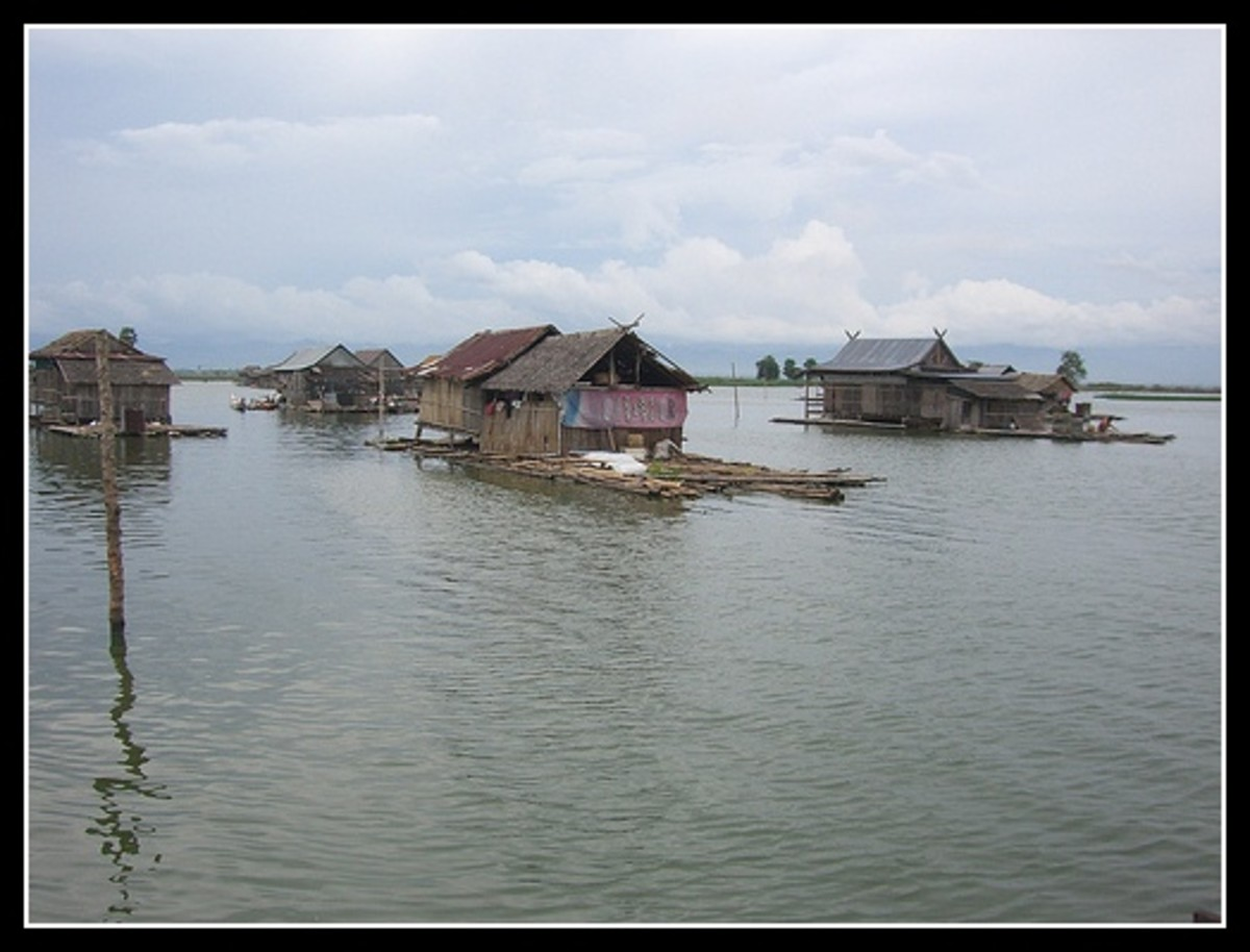 Indonesia flaoting fishermen village