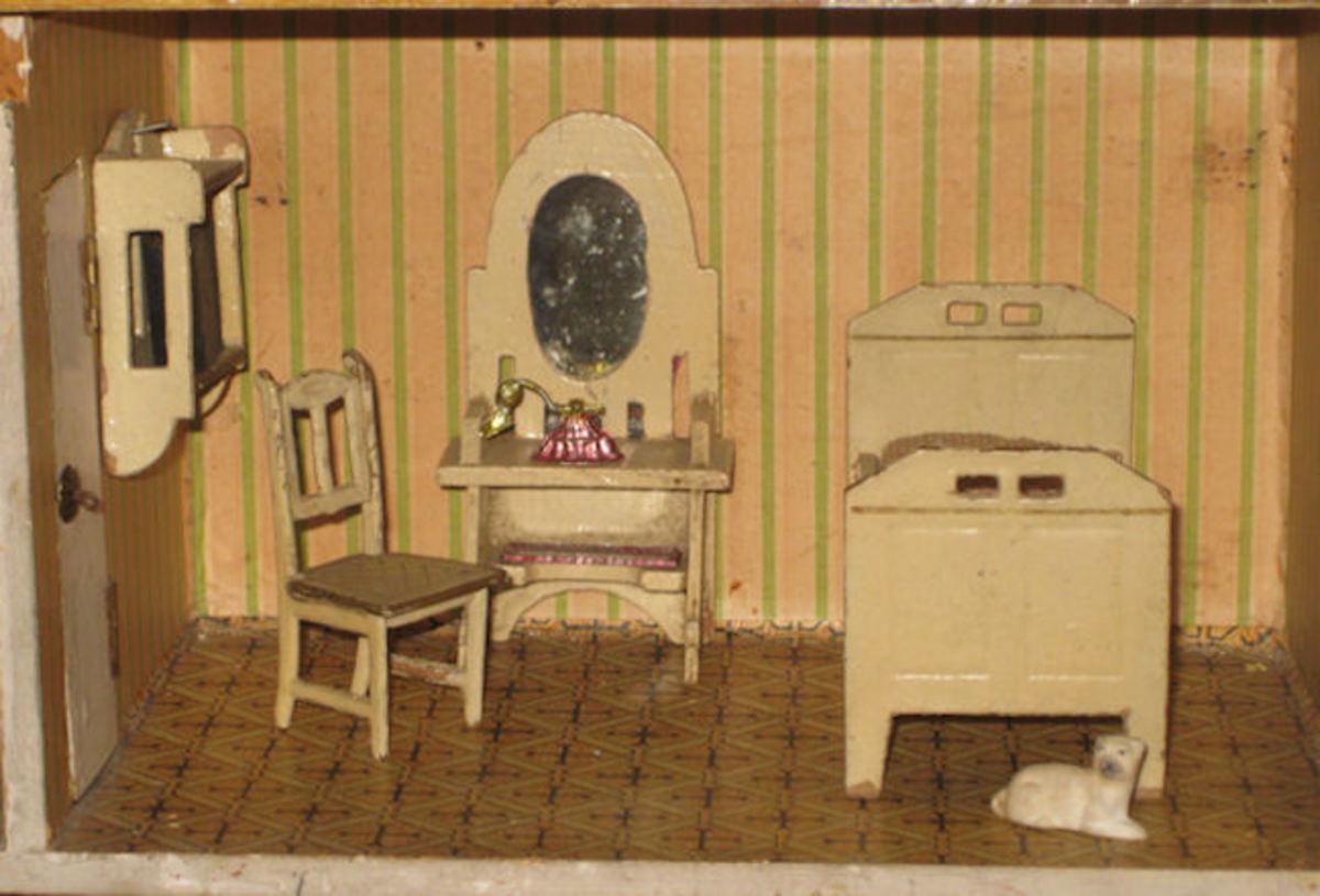 A miniature antique bedroom