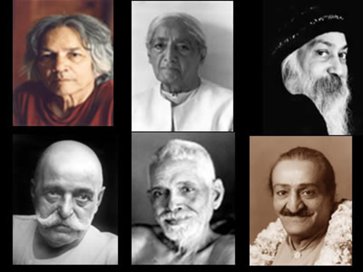Spiritual Quotes by 6 Enlightened Masters of 20th century