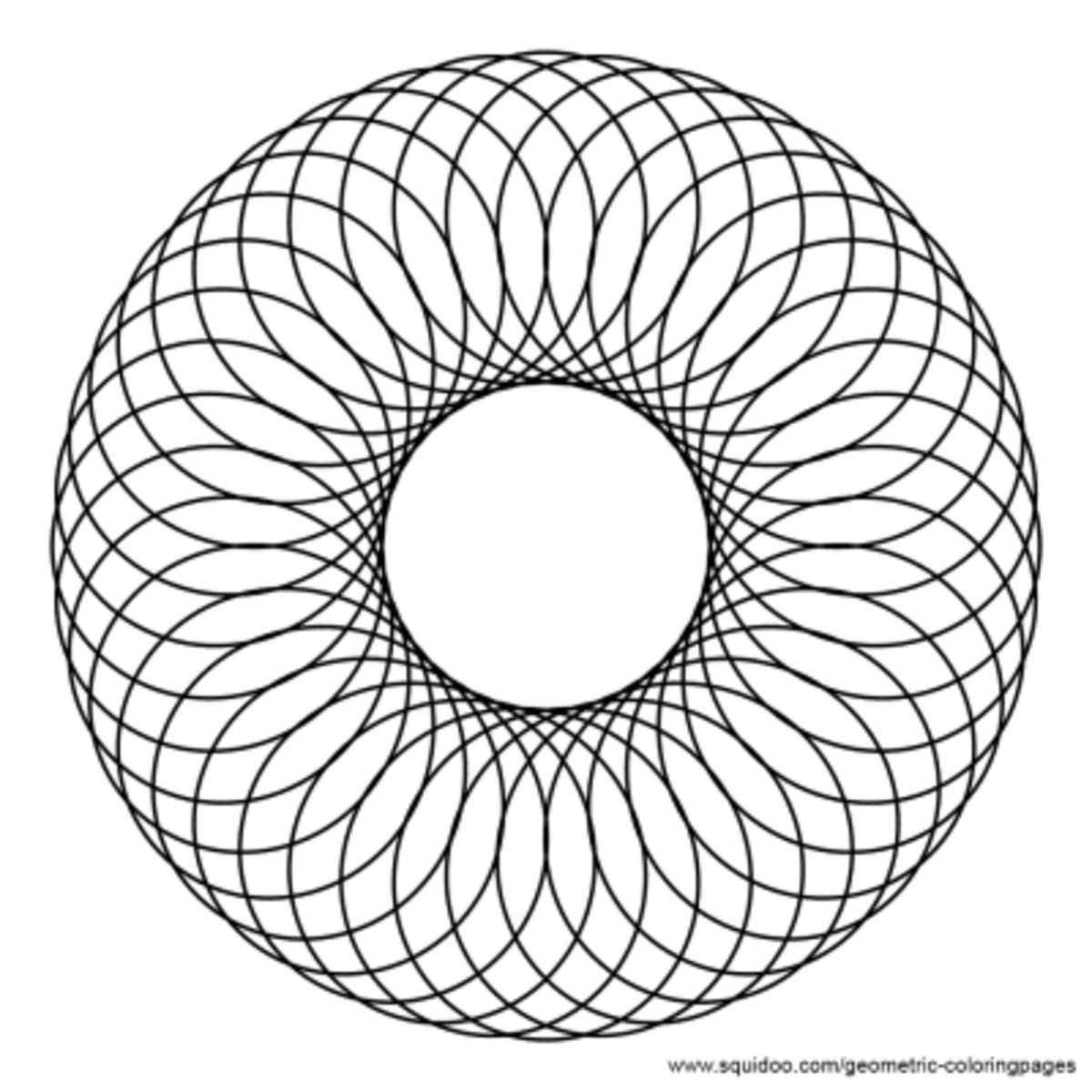 Spirograph / Guilloche Geometric Coloring Pages