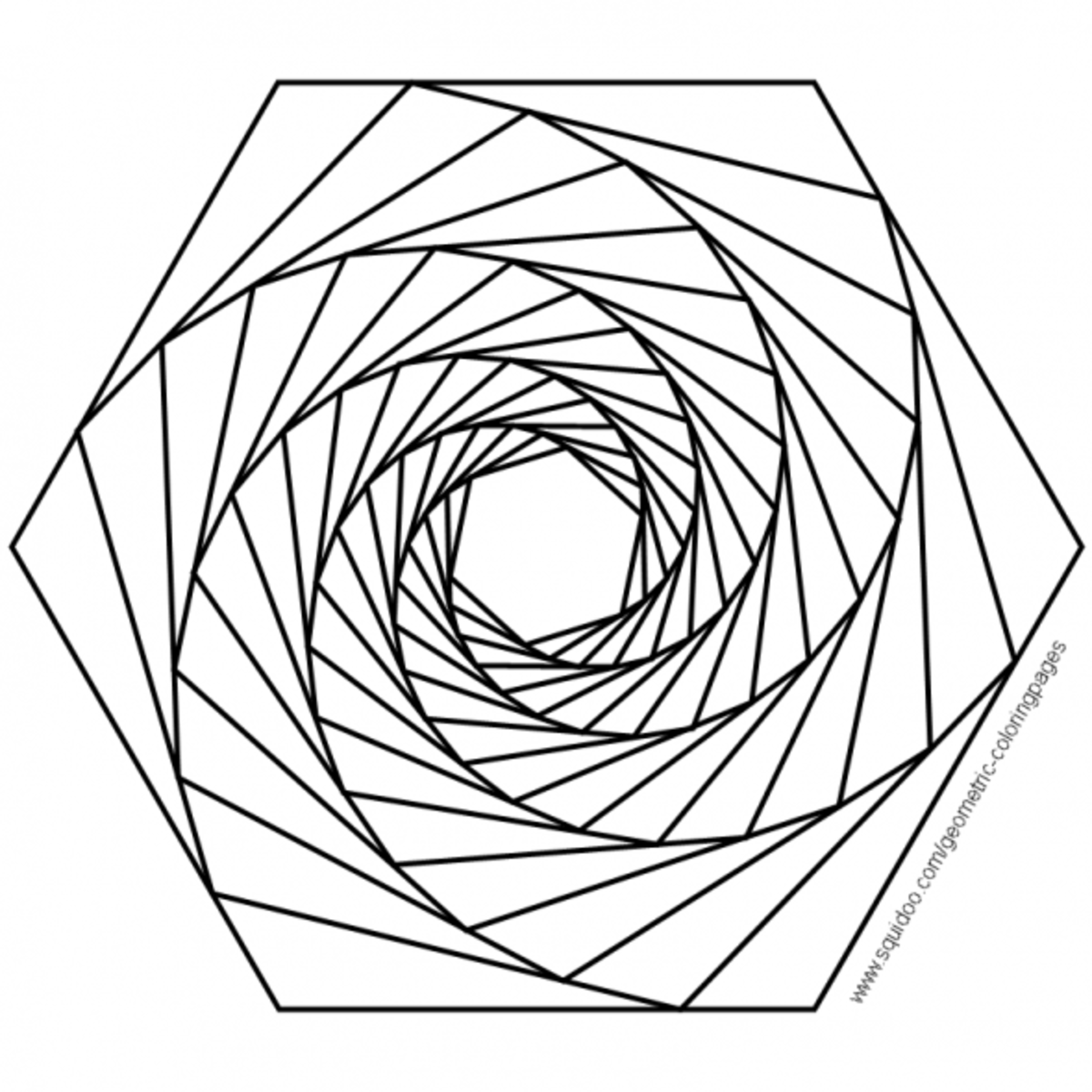 Free Coloring Pages Of 3d Geometric Designs Geometry Coloring Pages