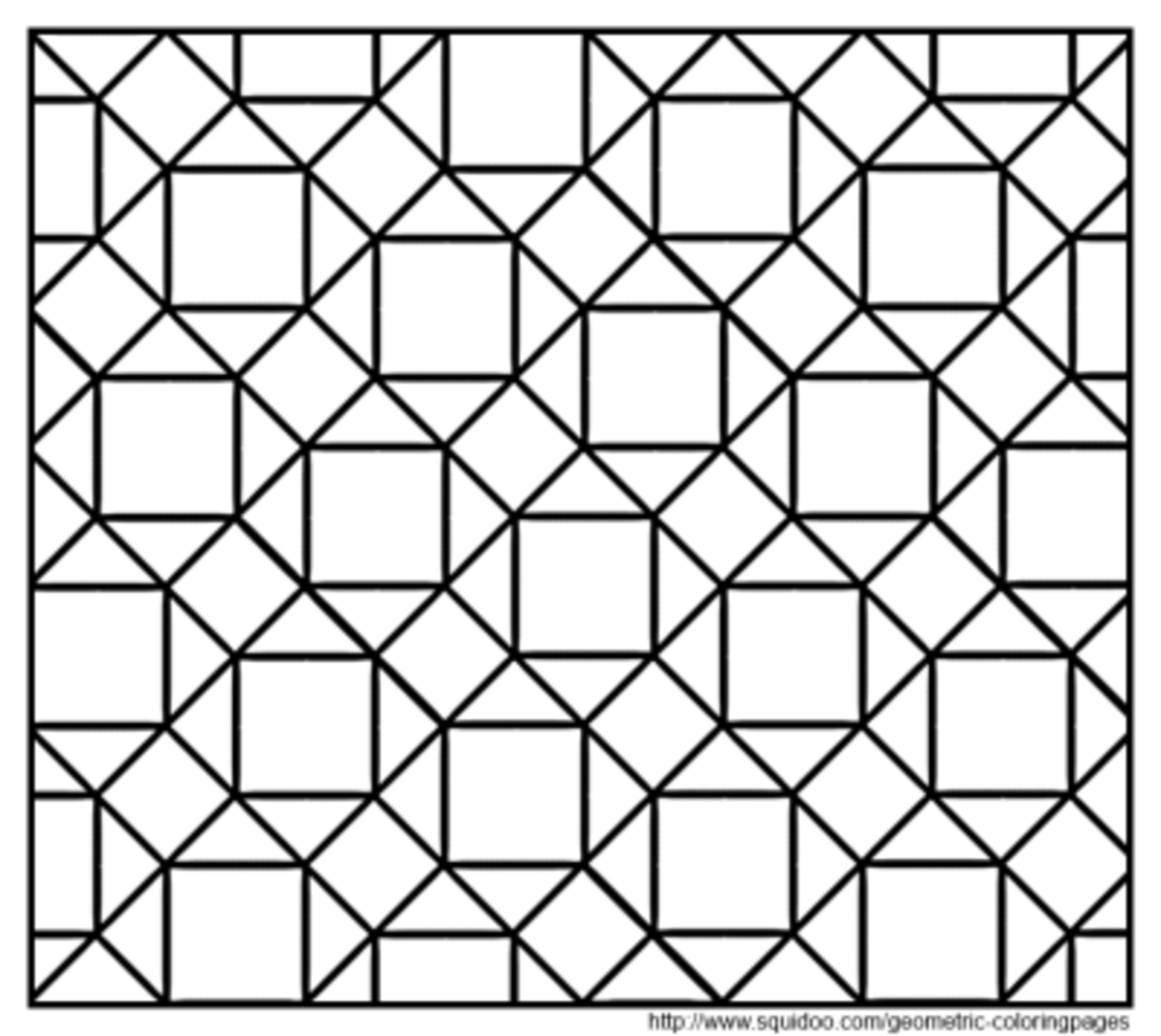 tessellations coloring pages - geometric coloring pages hubpages