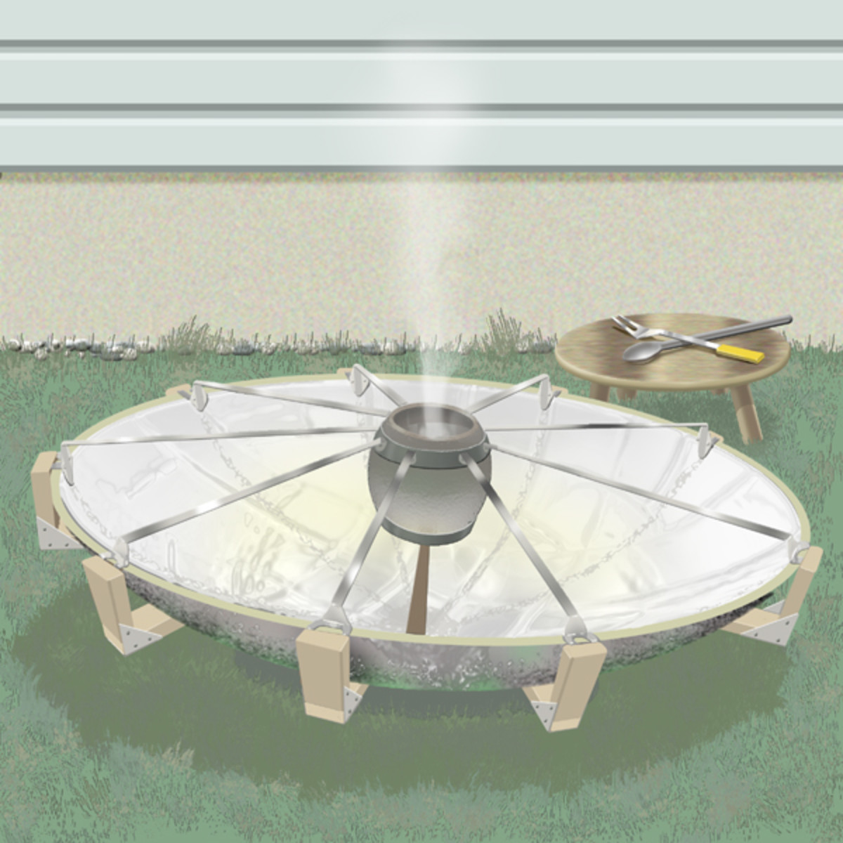"""Figure 2 - """"Solar Stove"""" - Painted in PhotoShop by the author"""