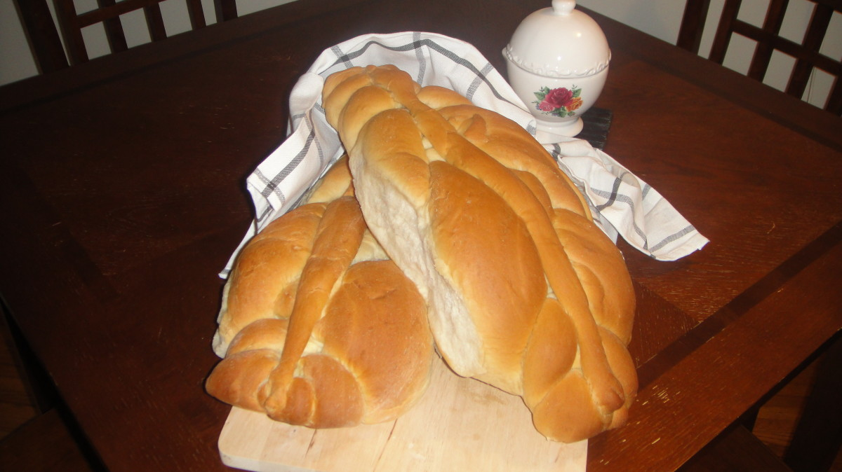 Homemade Guyanese Bread or 'plait bread'