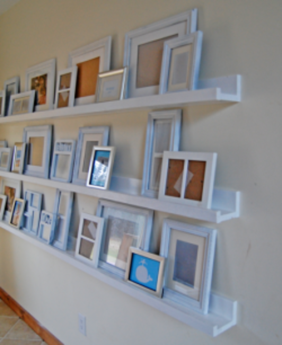 DIY Wall Art - Ana White's Art Ledges