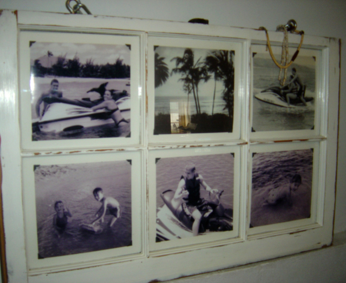 Window Pane Frame Wall Art DIY