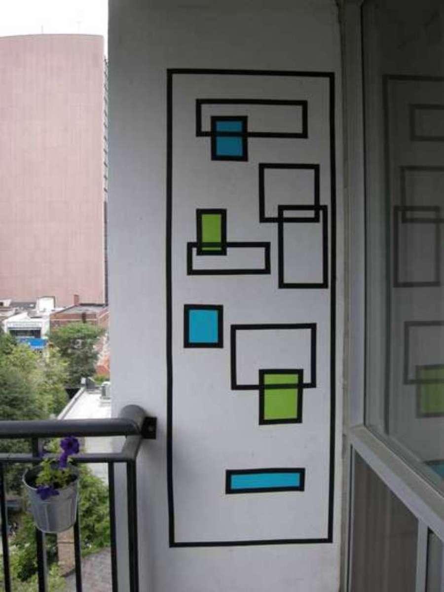 DIY Wall Art - Electrical Tape