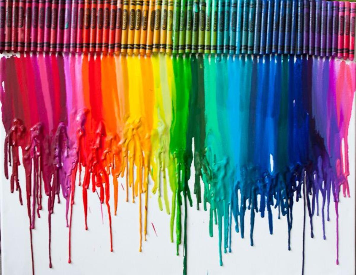 DIY Wall Art - Melted Crayons