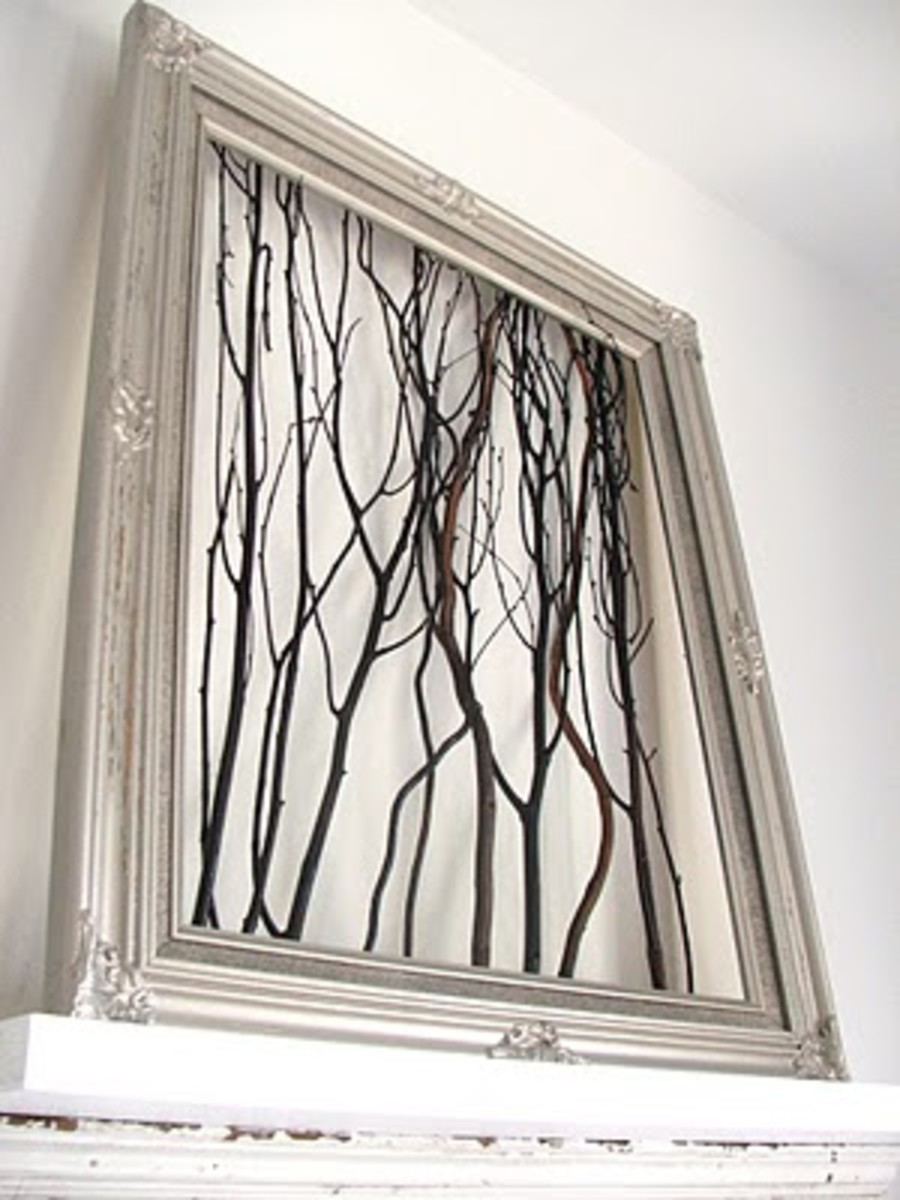 DIY Wall Art - Twigs in Frame