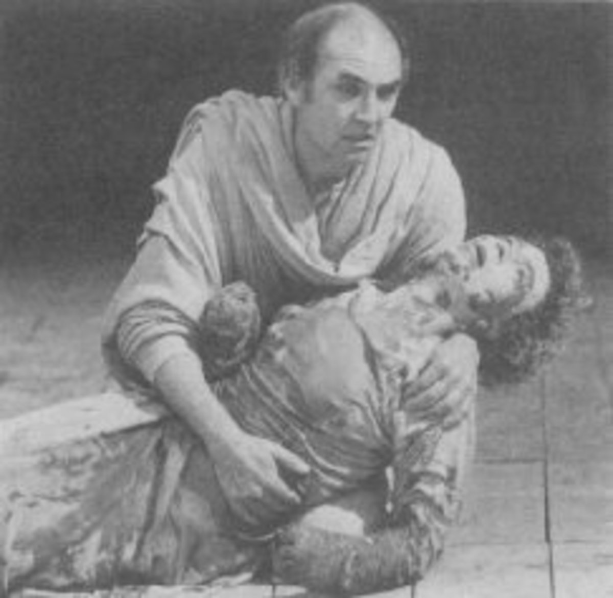 Marcus cradles a brutalized Lavinia in Warner's Titus