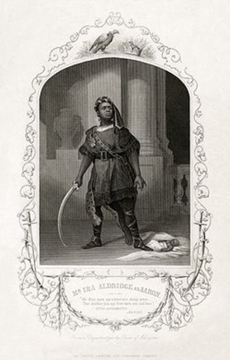 Ira Aldridge starring as Aaron the Moor in his own production of Titus