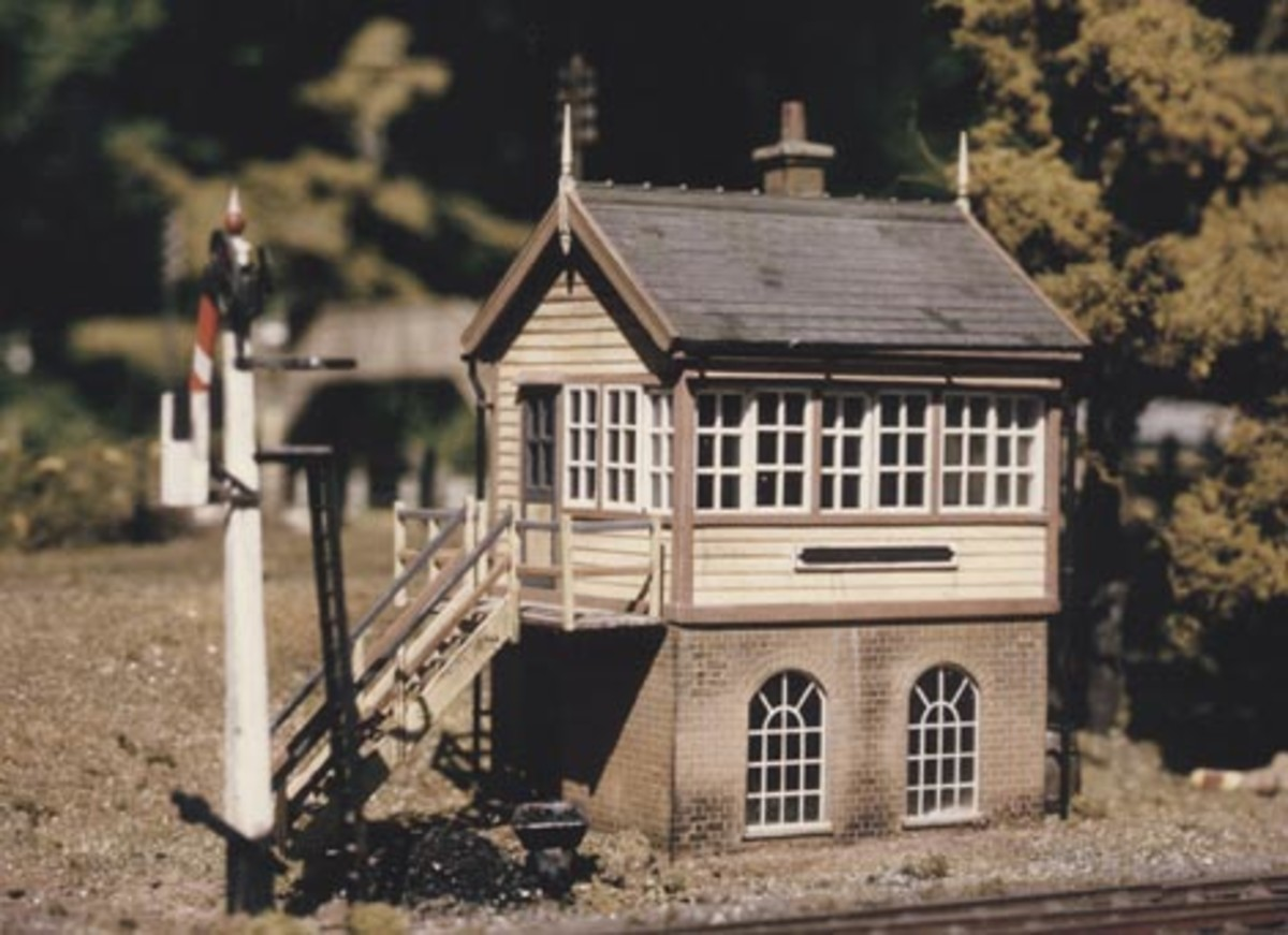The Ratio 2mm scale GW signal box in a realistic setting
