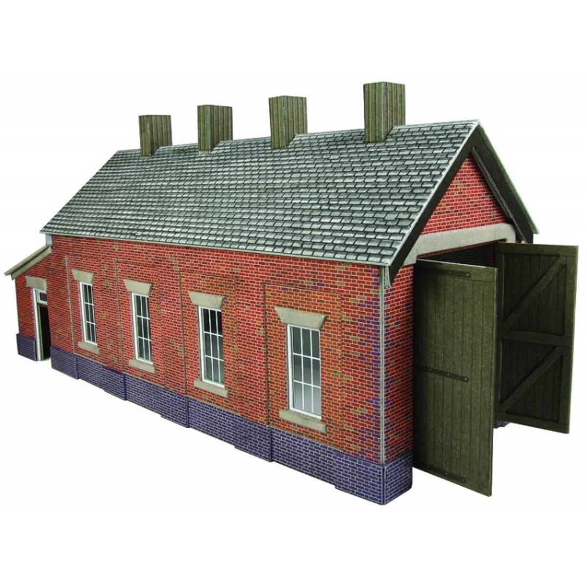 A single road branchline loco shed awaits its allocation. Although it's already fairly complete an able modeller might enhance it, bring it to life with a few personal touches from observation