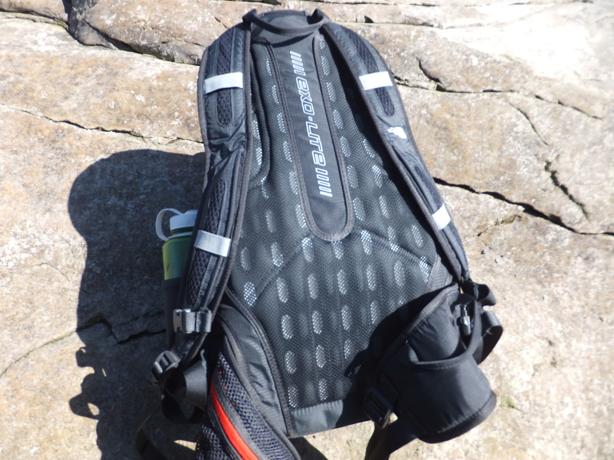 The exollite back panel is supportive and breathable