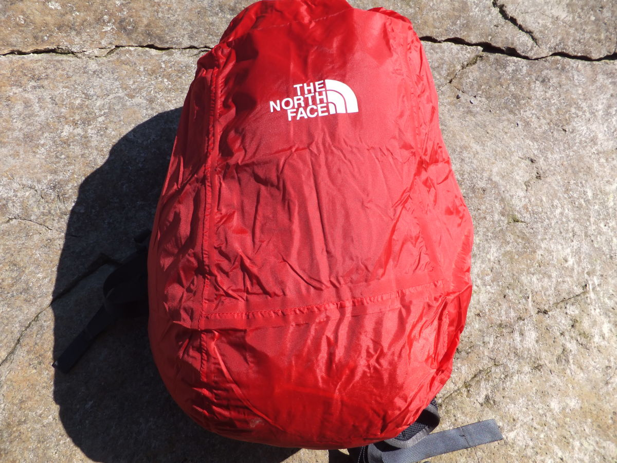 The official North Face rain cover on the Angstrom is an added bonus that comes with this pack.