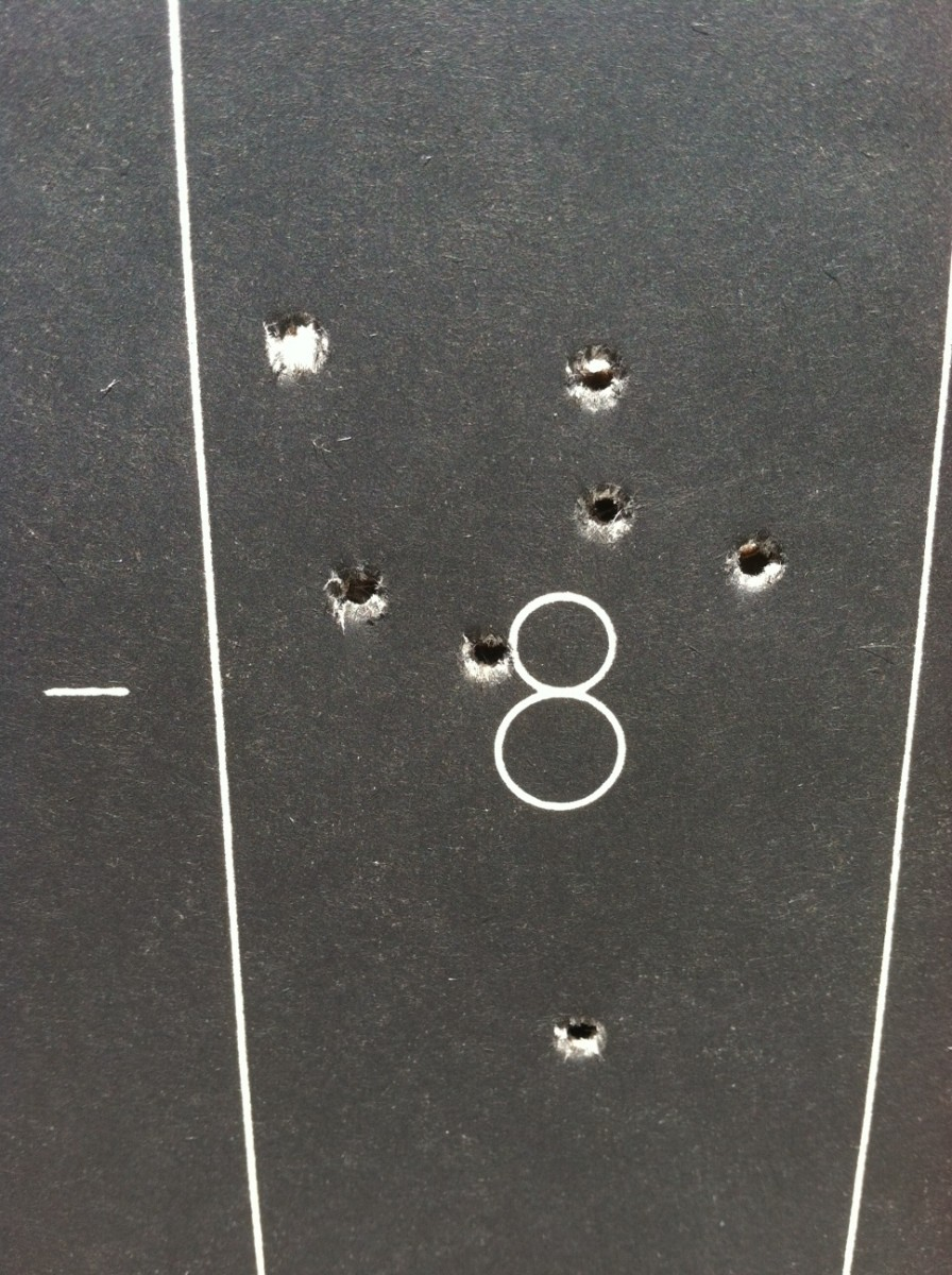 Marlin 917V HMR with myself shooting.  100 yards.  Winchester 17 GR V-MAX rounds.