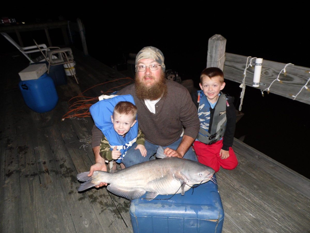 20 pound blue catfish, Weiss Lake 2015