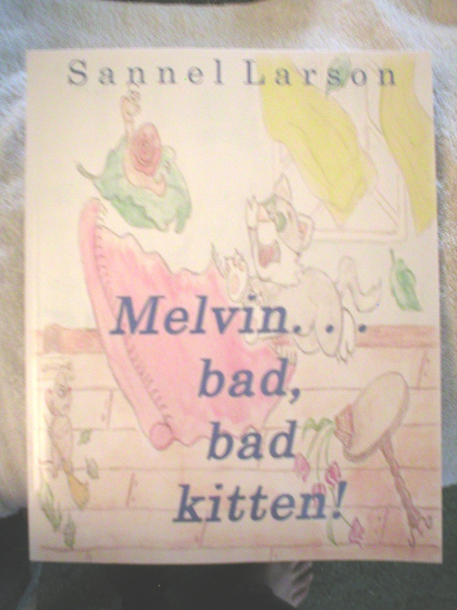 Sannel Larson's, Melvin... bad bad kitten!