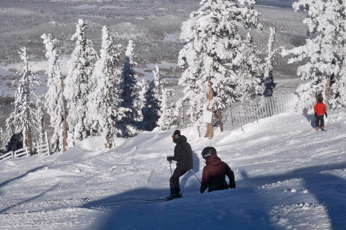 Downhill skiing and snowboarding at the Arizona Snowbowl