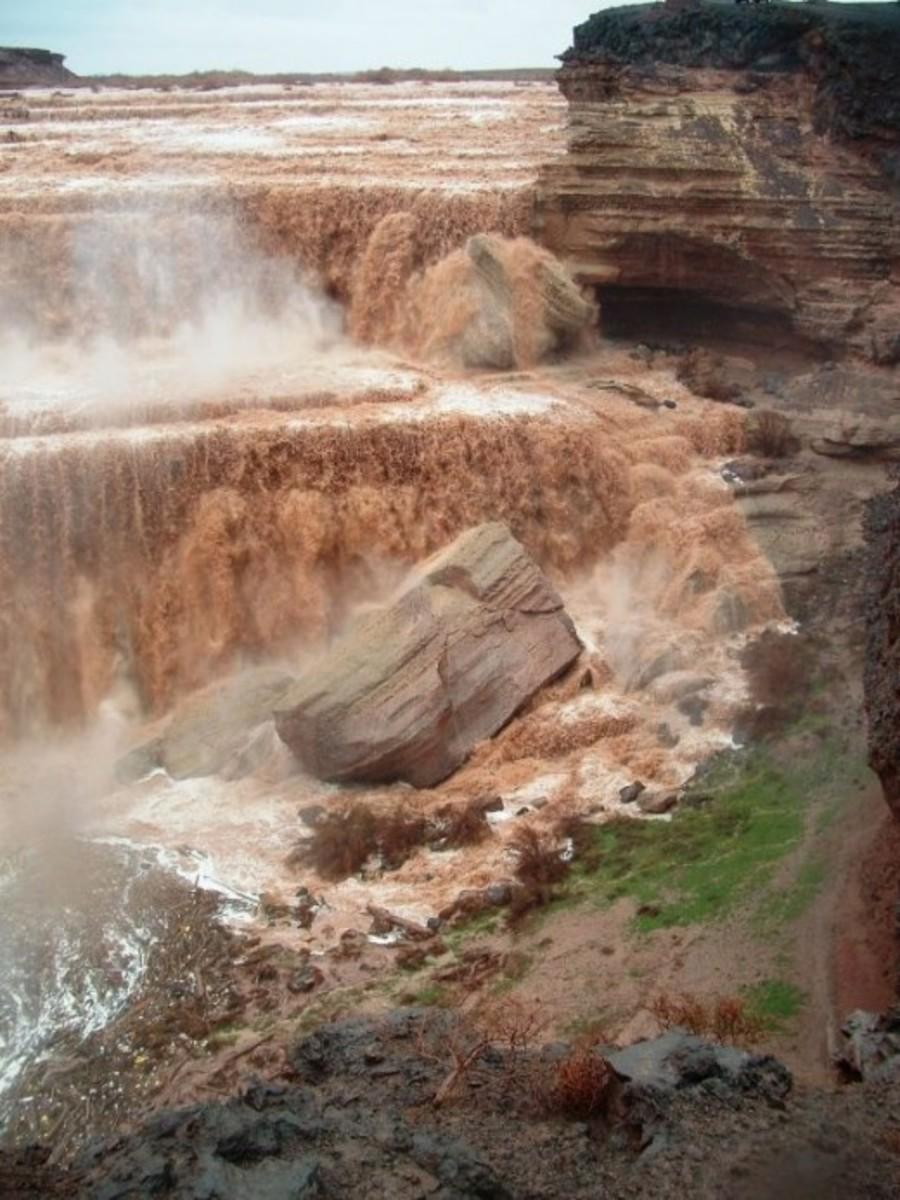Grand Falls during a monsoon season flood